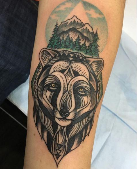 Geometric Bear Tattoos Design
