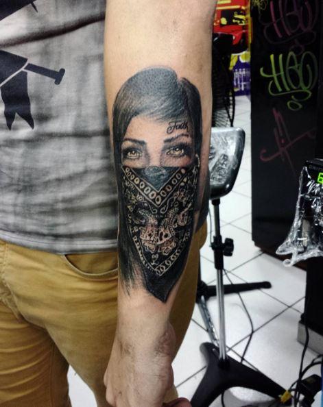 Glamorous Gangsta Tattoos Design And Ideas