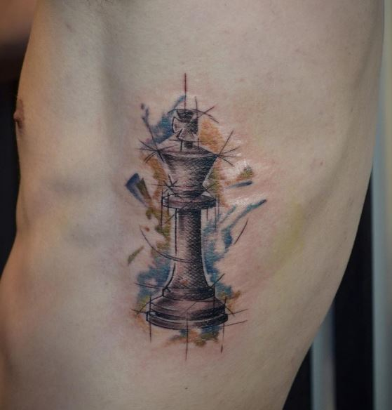Graphic Chess Tattoos Design For Men