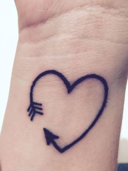 Heart With Arrow Tattoos
