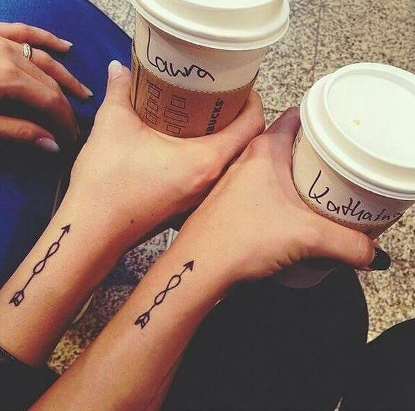 Infinity Sisters Tattoos Designs On Hands