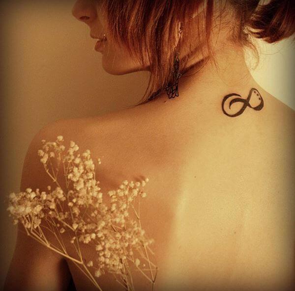 Infinity Tattoos Design For Women In Backside