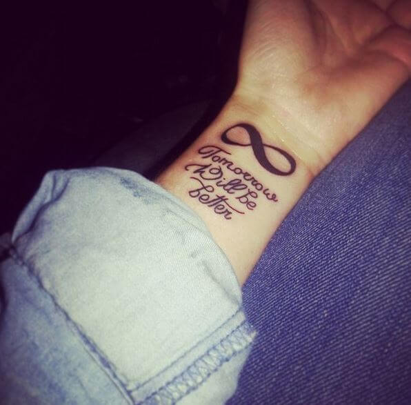 Infinity Tattoos Designs With Words