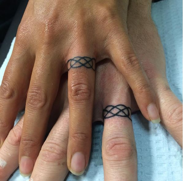 Infinity Wedding Ring Tattoos Design And Ideas