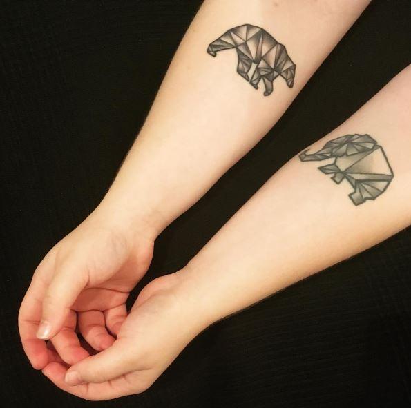 Little Bear Tattoos Design For Girls
