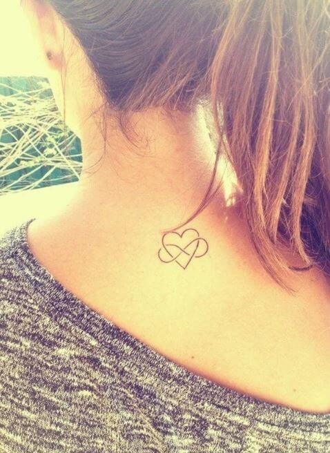 Lovely Heart And Infinity Tattoo For Girls