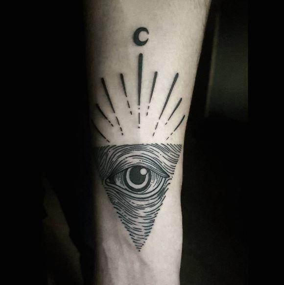 Moon Tattoo On Arm 12