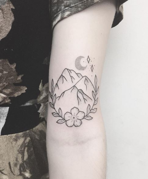 Moon Tattoo On Arm 2