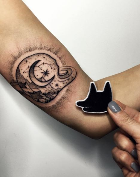 Moon Tattoo On Arm 23