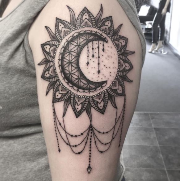 Moon Tattoo On Arm 28