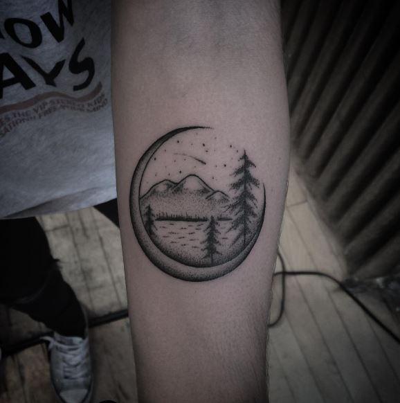 Moon Tattoo On Arm 31
