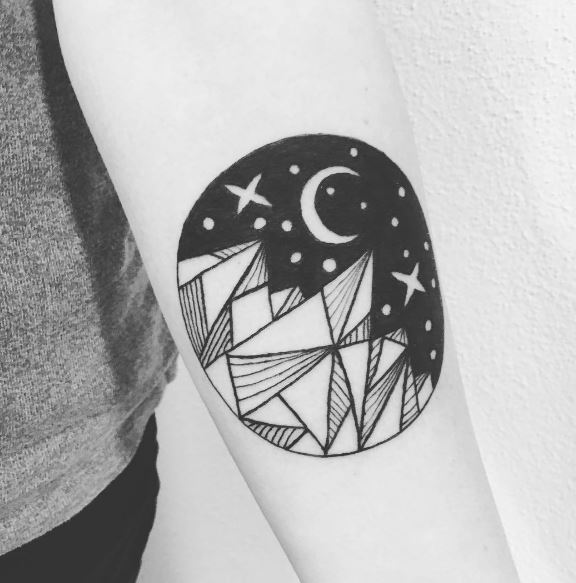 Moon Tattoo On Arm 34