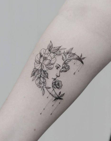 Moon Tattoo On Arm 39