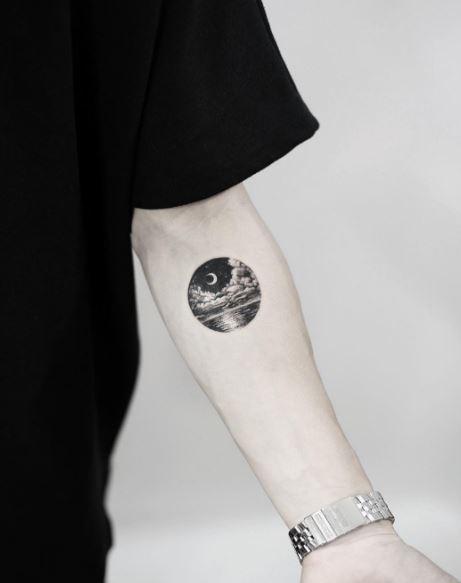 Moon Tattoo On Arm 4