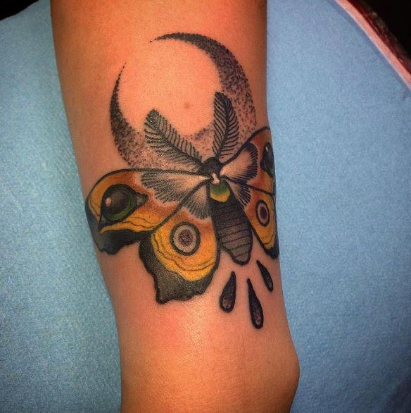 Moon Tattoo On Arm 9