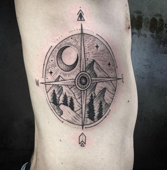 Moon Tattoo On Body 6