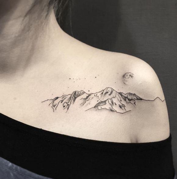 Moon Tattoo On Body 7