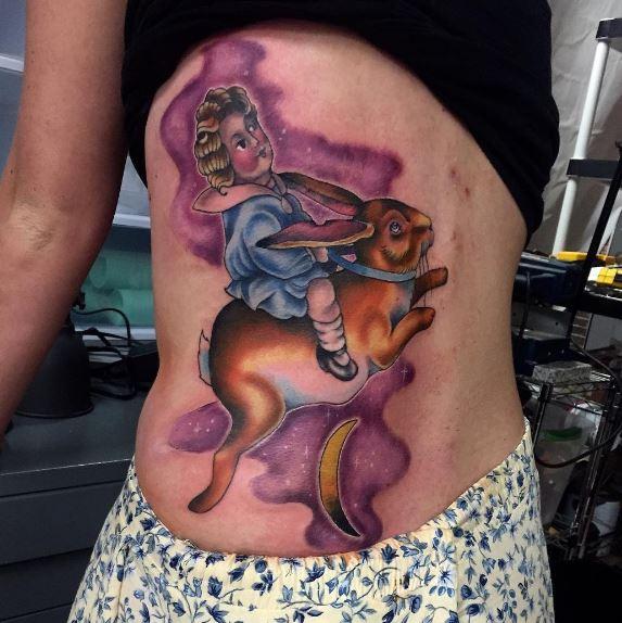 Moon Tattoo On Body 8