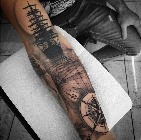 Nautical Sleeve Tattoos Design