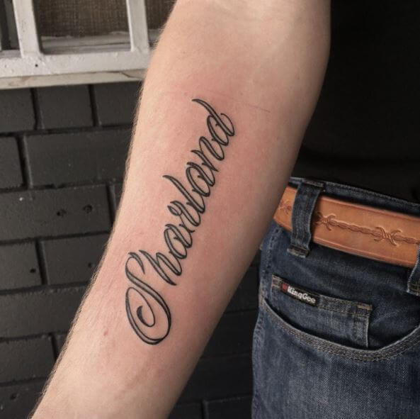 Nice Name Tattoo Design