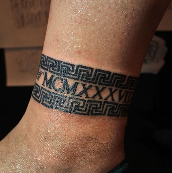 Roman Numerals Ankle Tattoos Design And Idea
