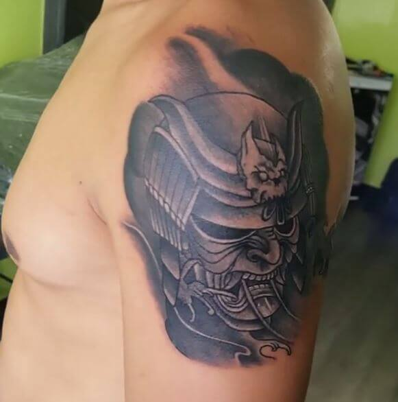 Samurai Tattoo On Arm 11