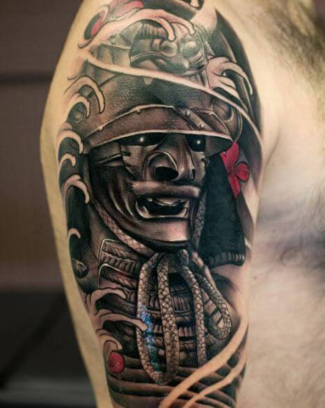 Samurai Tattoo On Arm 12