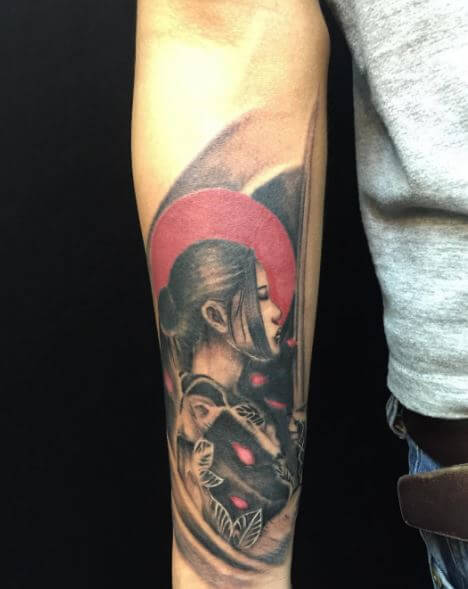 Samurai Tattoo On Arm 16