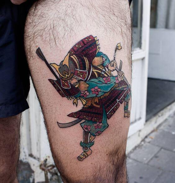 Samurai Tattoo On Arm 17