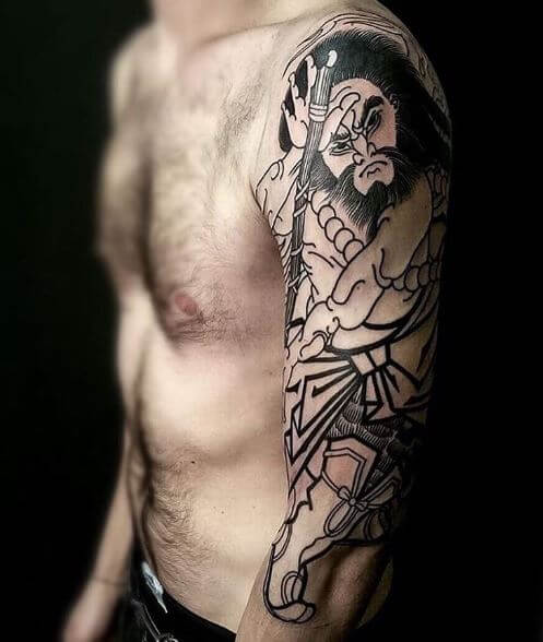 Samurai Tattoo On Arm 18