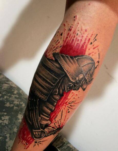 Samurai Tattoo On Arm 2