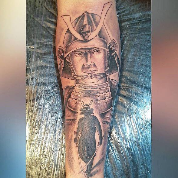Samurai Tattoo On Arm 25