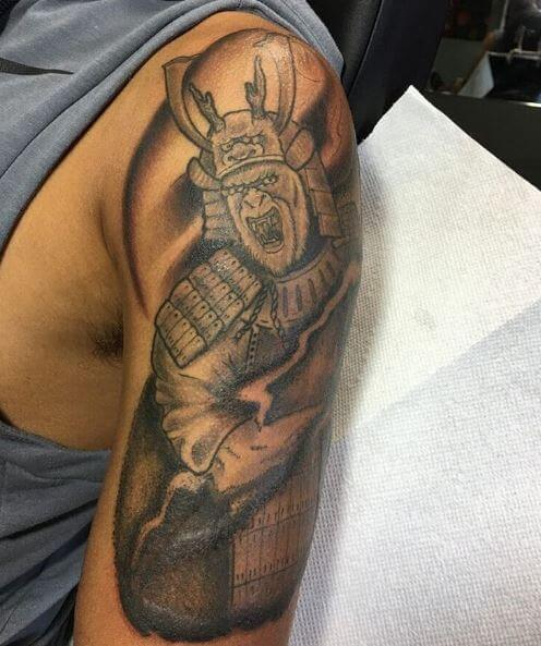 Samurai Tattoo On Arm 28