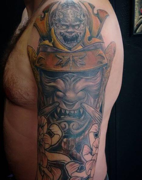 Samurai Tattoo On Arm 34
