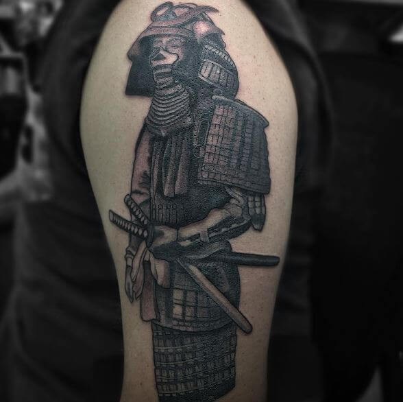 Samurai Tattoo On Arm 9