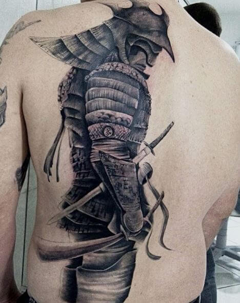 Samurai Tattoo On Back 1