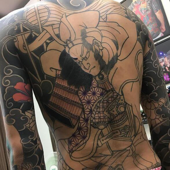 Samurai Tattoo On Back 2