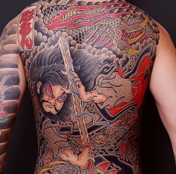 Samurai Tattoo On Back