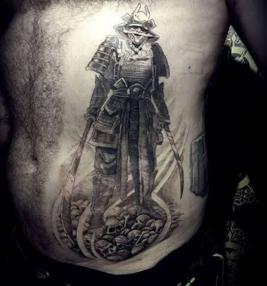 Samurai Tattoo On Body 3