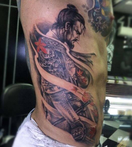 Samurai Tattoo On Body 6