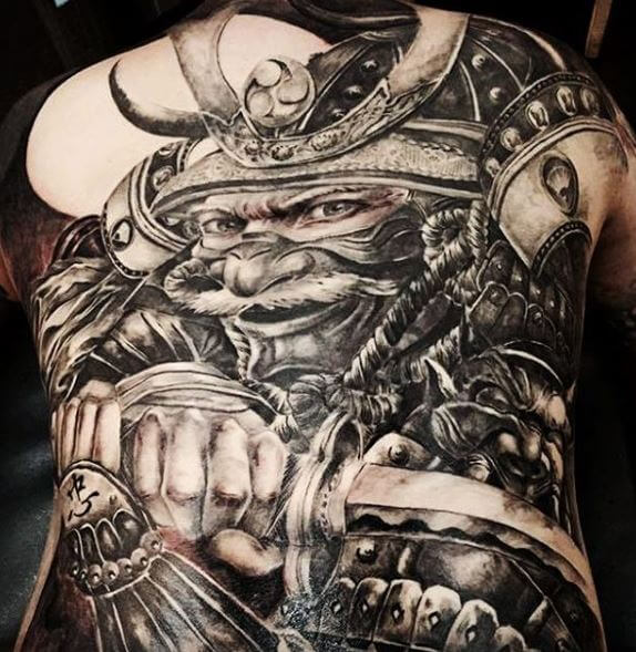 Samurai Tattoo On Body 7