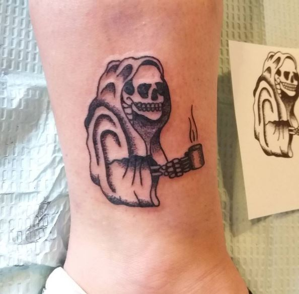 Scary Ankle Tattoos Design And Ideas