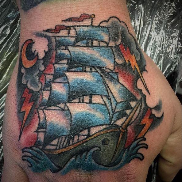 Sea Man Life Nautical Tattoos Design