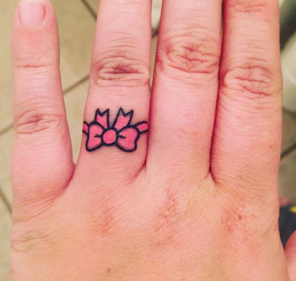 So Beautiful Wedding Ring Tattoos Design