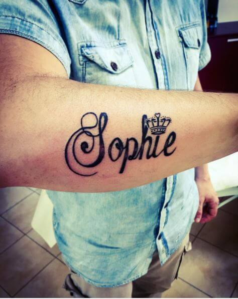 Sophie Girlfriend Name Tattoo For Boys