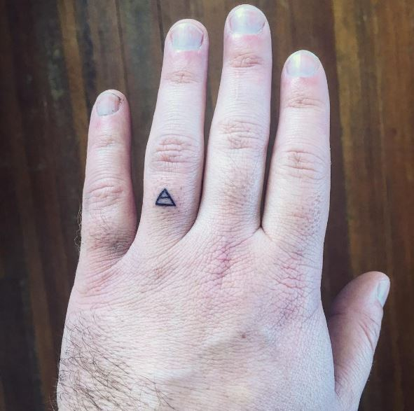 Tiny Wedding Ring Tattoos Design