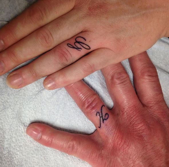 Wedding Ring Tattoos Stock Photos
