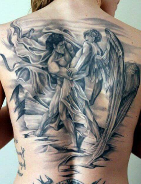 Angel And Demon Tattoo