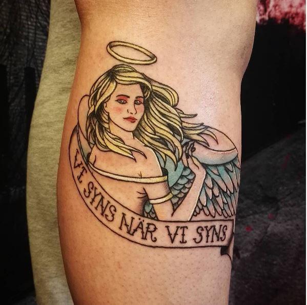 Angel Halo Tattoo