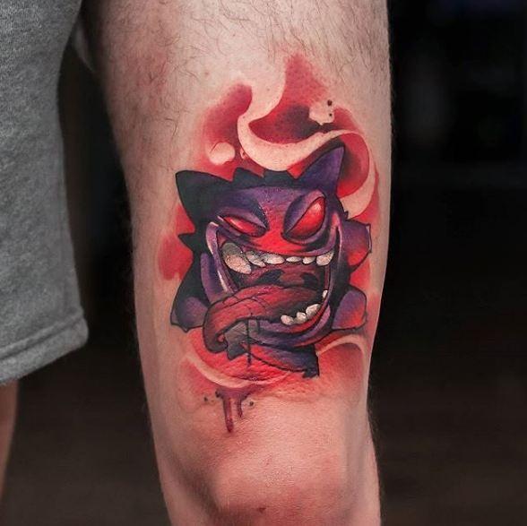 Anime Gengar Pokemon Tattoos